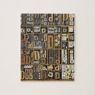 Letter D Jigsaw Puzzle