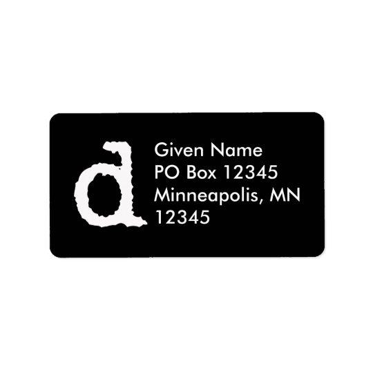 Letter D Label