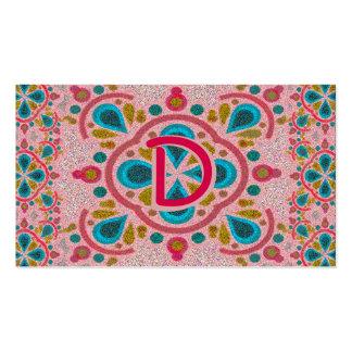 Letter D Mandala Monogram Pack Of Standard Business Cards