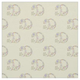 Letter D monogram decorative text custom fabric