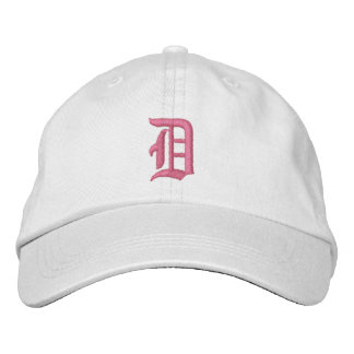 Letter D Monogram Embroidered Hat