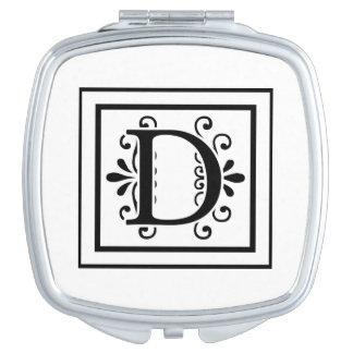Letter D Monogram Vanity Mirrors