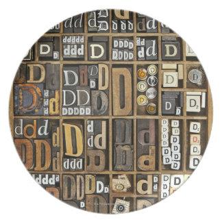 Letter D Plate