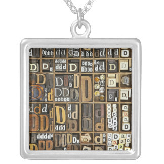 Letter D Silver Plated Necklace