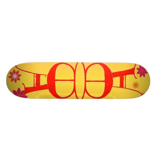 Letter E and A Skateboard