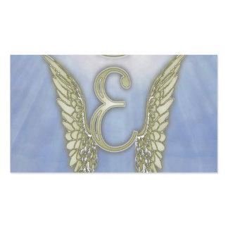 Letter E Angel Monogram Pack Of Standard Business Cards