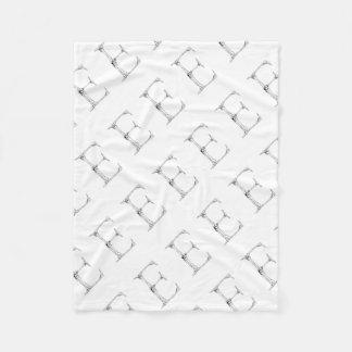 Letter E Bone Initial Fleece Blanket
