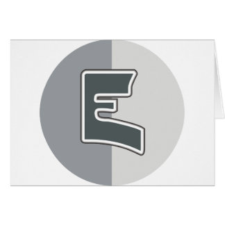 Letter E Note Card