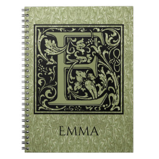 Letter E First Letter Monogram Note Book