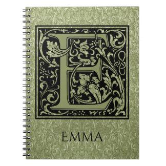 Letter E First Letter Monogram Notebook