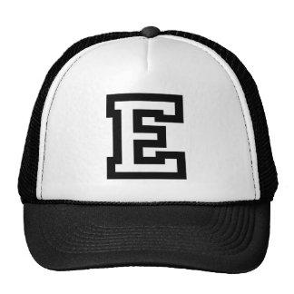 Letter E Mesh Hats