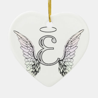 Angel Wings Initial Christmas Tree Decorations & Ornaments ...
