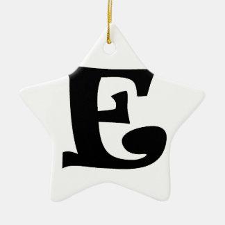 Letter E_large Christmas Ornament