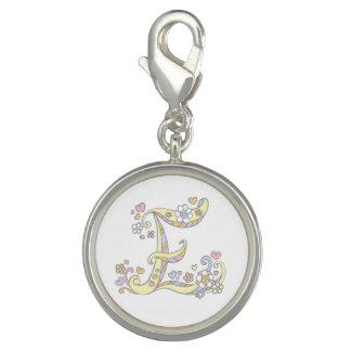 Letter E monogram whimsical charm