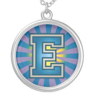 Letter 'E' Round Pendant Necklace