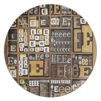 Letter E Plate