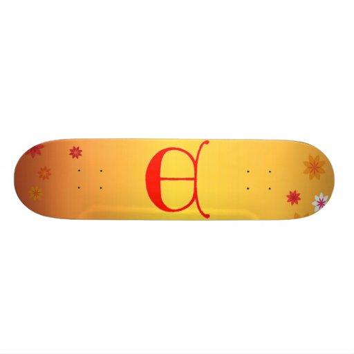 Letter E Skateboard