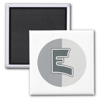 Letter E Square Magnet