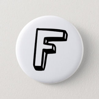 Letter F 6 Cm Round Badge
