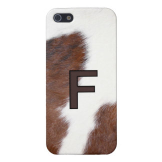 Letter F Branding on Cowhide Iphone 5 Case