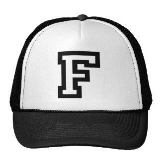 Letter F Mesh Hat