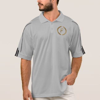 Letter F in a luxury gold design Polo Shirt