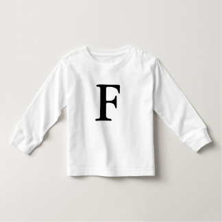 Letter F initial monogrammed t shirt