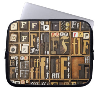 Letter F Laptop Sleeve