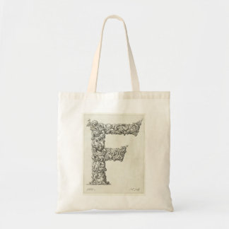 Letter 'F' Monogram Budget Tote