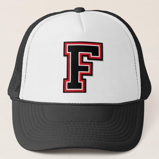 """Letter """"F"""" Monogram Trucker Hat"""