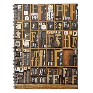 Letter F Notebooks