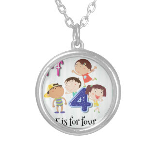 Letter F Round Pendant Necklace