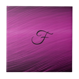 Letter F Small Square Tile