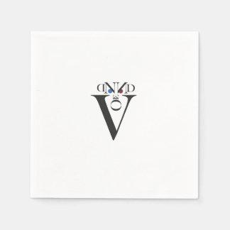 Letter Face Paper Napkins