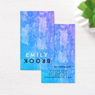 Letter Flip Chic Rustic Business Card