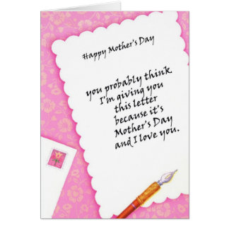 Letter for my Mom - Customize Greeting Card