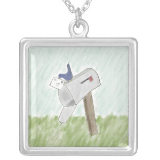 Letter from a Bluebird Necklace