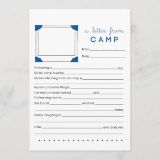 Letter from Camp Stationery Card