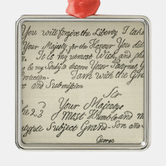 Letter from George III to his grandfather the Silver-Colored Square Decoration