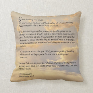 Letter From God Throw Pillow