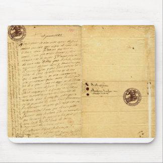 Letter from Michel de Montaigne 1585 Mousepads