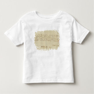 Letter from Mozart to a freemason, January 1786 Toddler T-Shirt