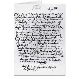 Letter from Mozart to his Father, 5th April Greeting Card