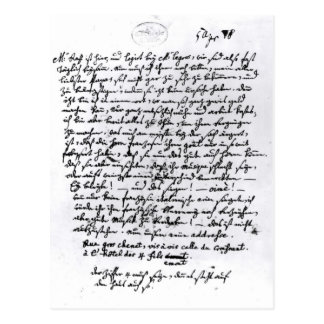 Letter from Mozart to his Father, 5th April Postcard