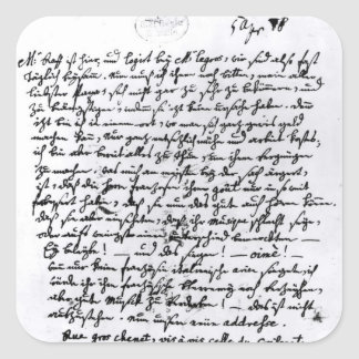 Letter from Mozart to his Father 5th April Stickers