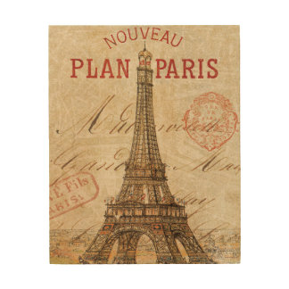 Letter from Paris Wood Wall Art
