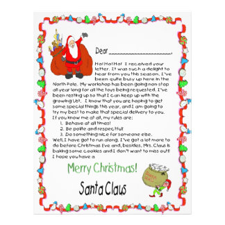 Letter from Santa 21.5 Cm X 28 Cm Flyer