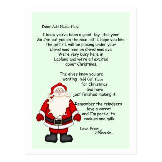 custom letter from santa postcards zazzle co uk