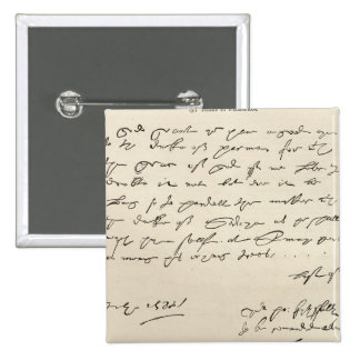 Letter from Sir Francis Drake 15 Cm Square Badge