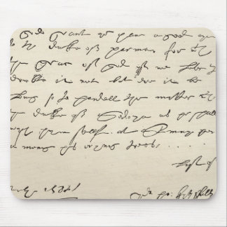 Letter from Sir Francis Drake Mousepads